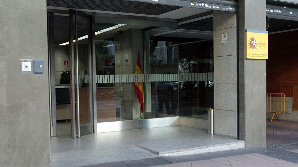 Análisis: así evoluciona la quinta ola de coronavirus en Lugo.Entrada de la sede de lo contencioso administrativo de la Audiencia Nacional en Madrid