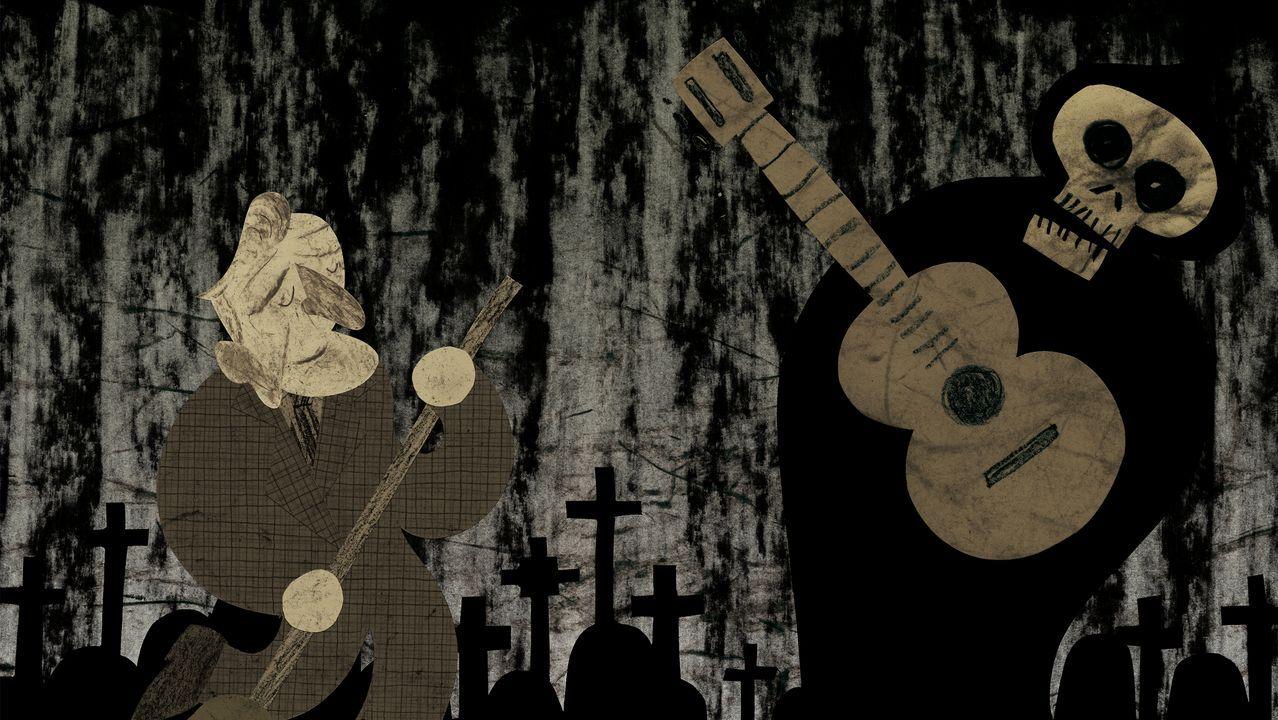 Detalle dunha das ilustracións de Diego Estebo para o libro de Manuel Rivas