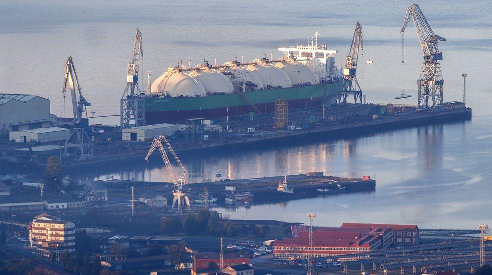Imagen de archivo del buque logístico fabricado en Ferrol para la Armada australiana