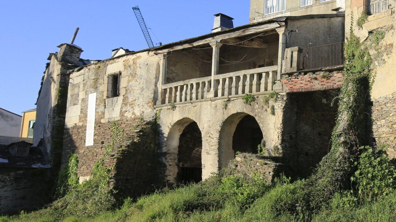 Detalle do edificio do pazo lugués de Dona Urraca