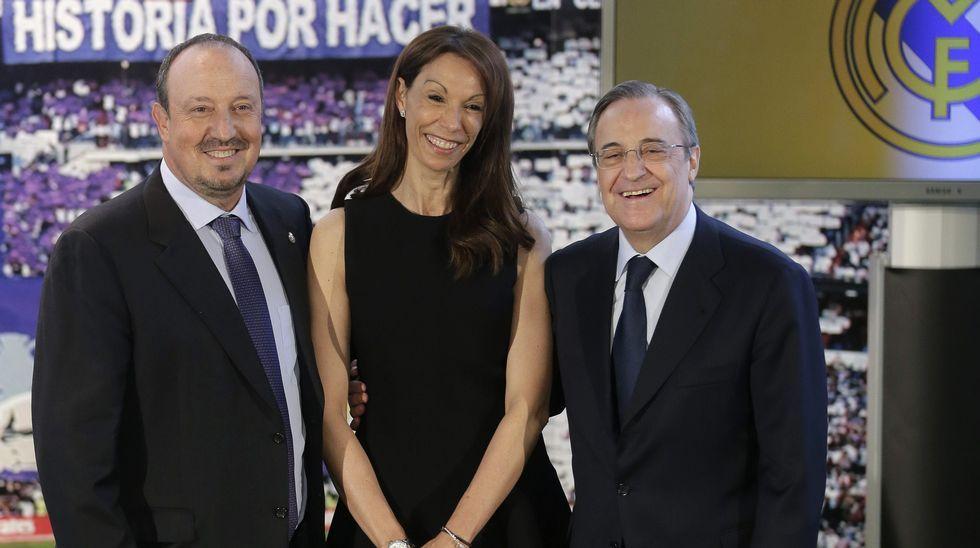Montserrat Seara, entre Rafa Benítez y Florentino Pérez