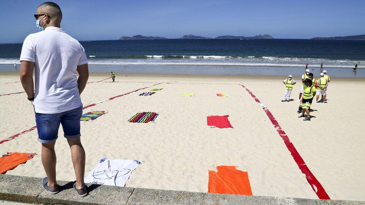 Vigo convierte Samil y O Vao en una playas de cuadrículas.Roque Varela de Limia, gerente de Merchant Union