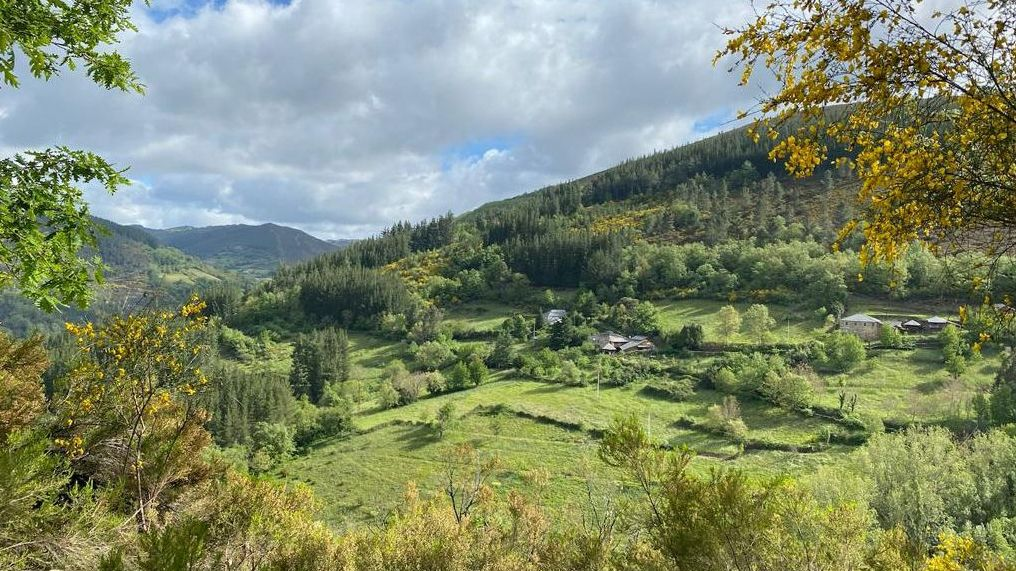 La pequeña aldea de San Martín de Ribeira se ubica en un valle de Os Ancares.