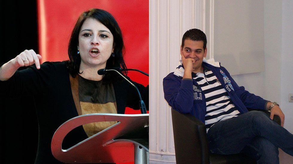 Susana Díaz, «cada día más convencida de que el PSOE saldrá del proceso con mucha fortaleza».Adriana Lastra y Nino Torre