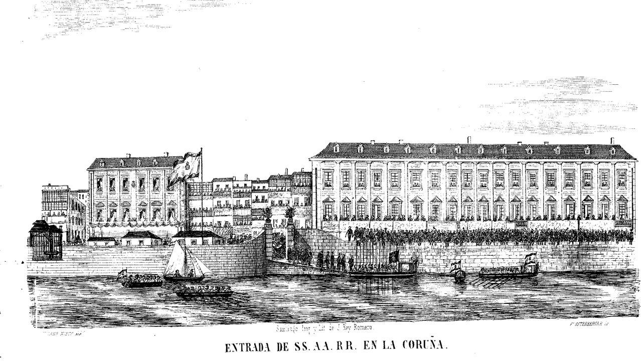 El Queen Elizabeth, en A Coruña