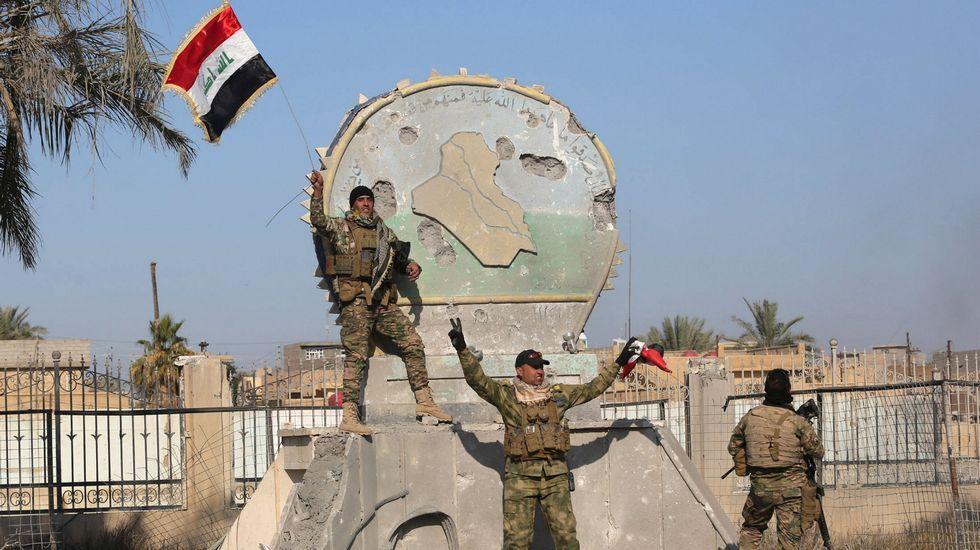 El Ejército iraquí reconquista Ramadi.Uno de los ataques aéreos de la coalición internacional.