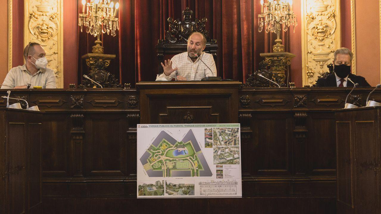 Jácome planea seguir dando prioridad a las obras, como el parque que prometió en A Ponte