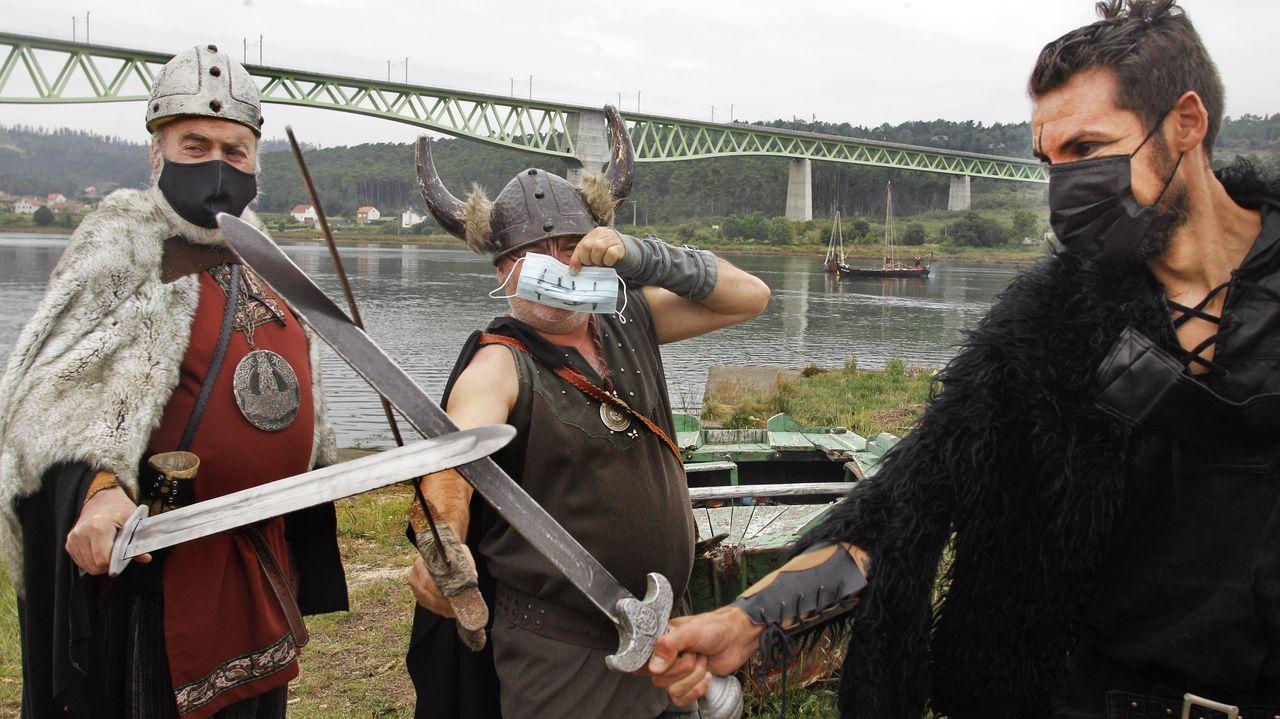 Os vikingos chegaron a Catoira pese ao covid