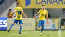 Rubén Castro celebra un gol frente al Granada en el Gran Canaria