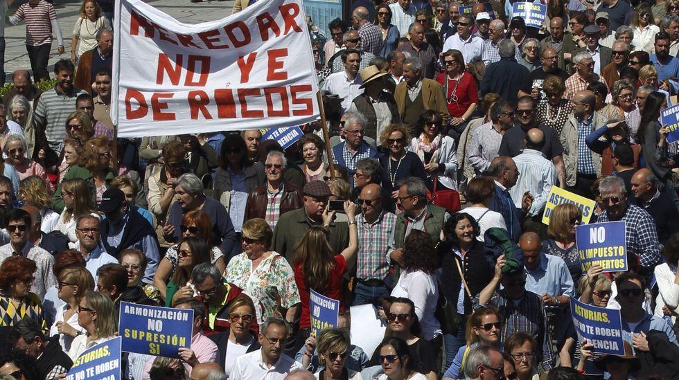 Manifestación en Oviedo contra el impuesto de sucesiones