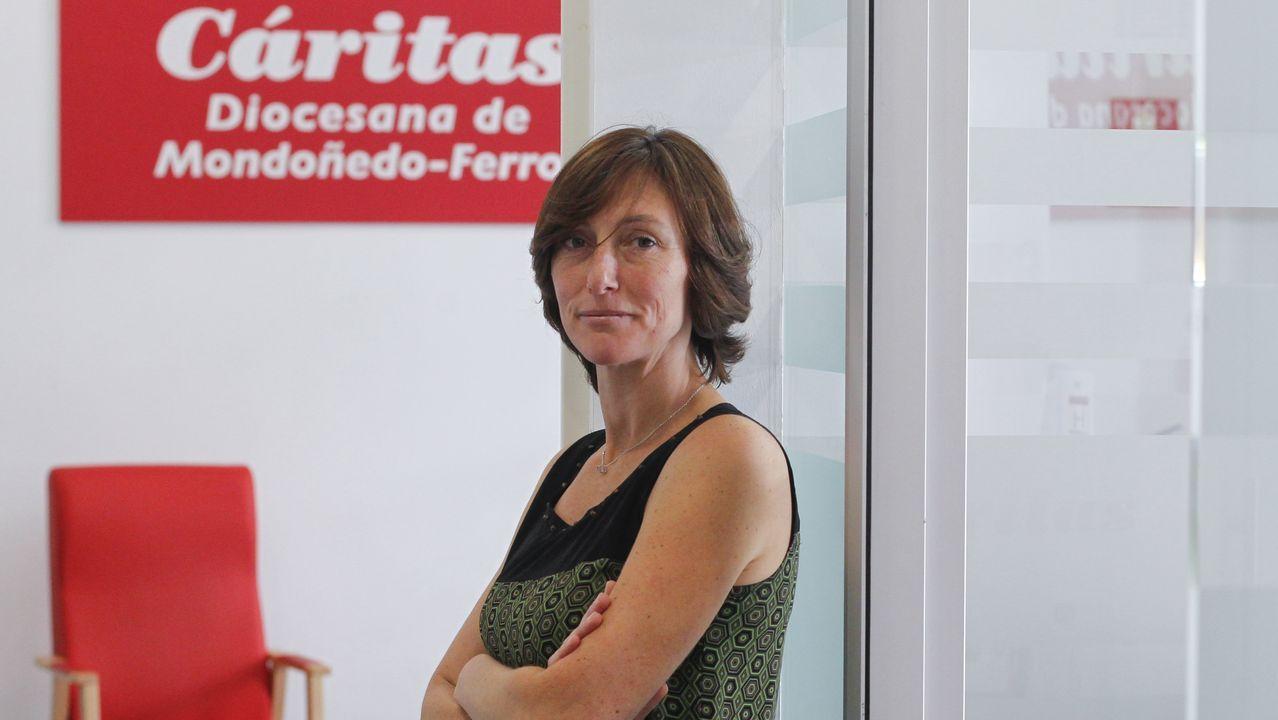 Pablo Junceda.Marta Sixto se sumó al programa de mentoría social de Cáritas el pasado curso y espera repetir la experiencia en el 2020-2021