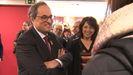 Anna Erra, alcaldesa de Vic, con Quim Torra, presidente de la Generalitat