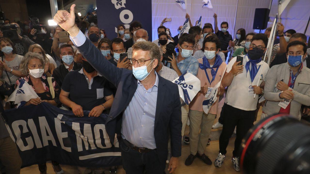 Así arrancó la undécima legislaturagallega.O BNG celebrou na campaña un acto na Quintana entre medidas de prevención sanitaria contra o covid-19