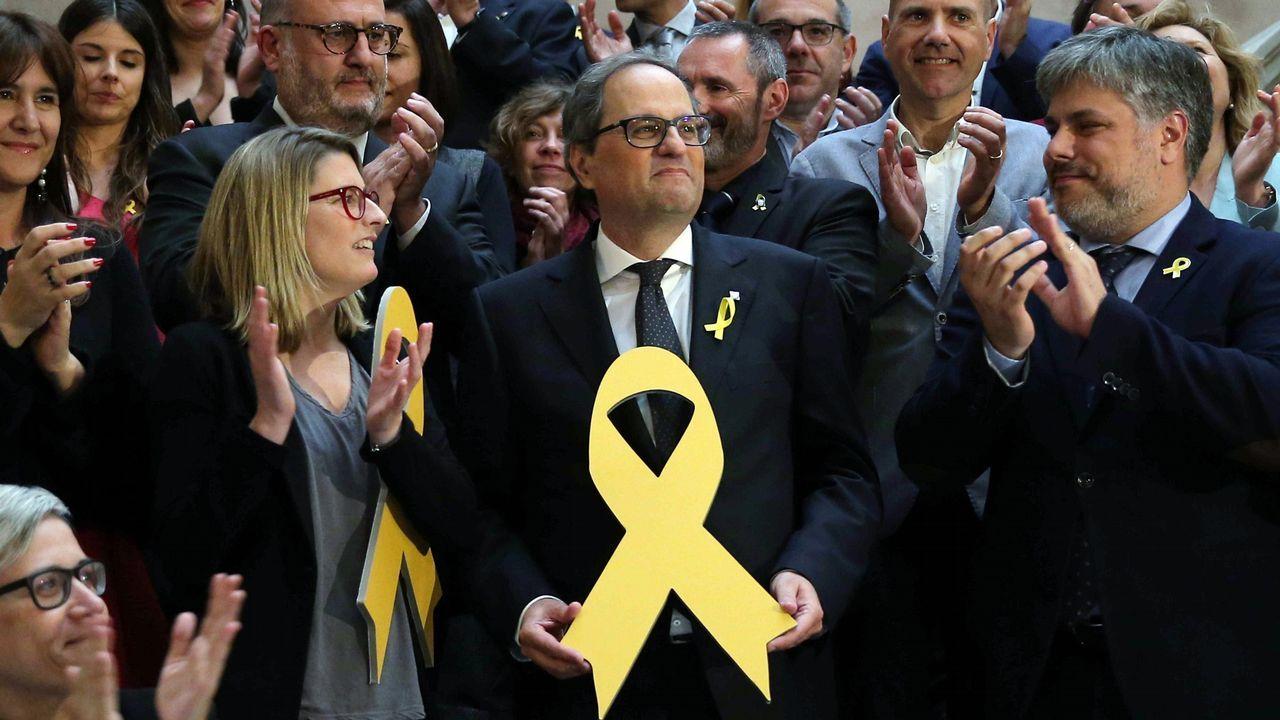 Quim Torra: «Nuestro presidente es Carles Puigdemont».Frialdad entre Sáenz de Santamaría y Cospedal en el acto en Madrid de la fiesta del Dos de Mayo