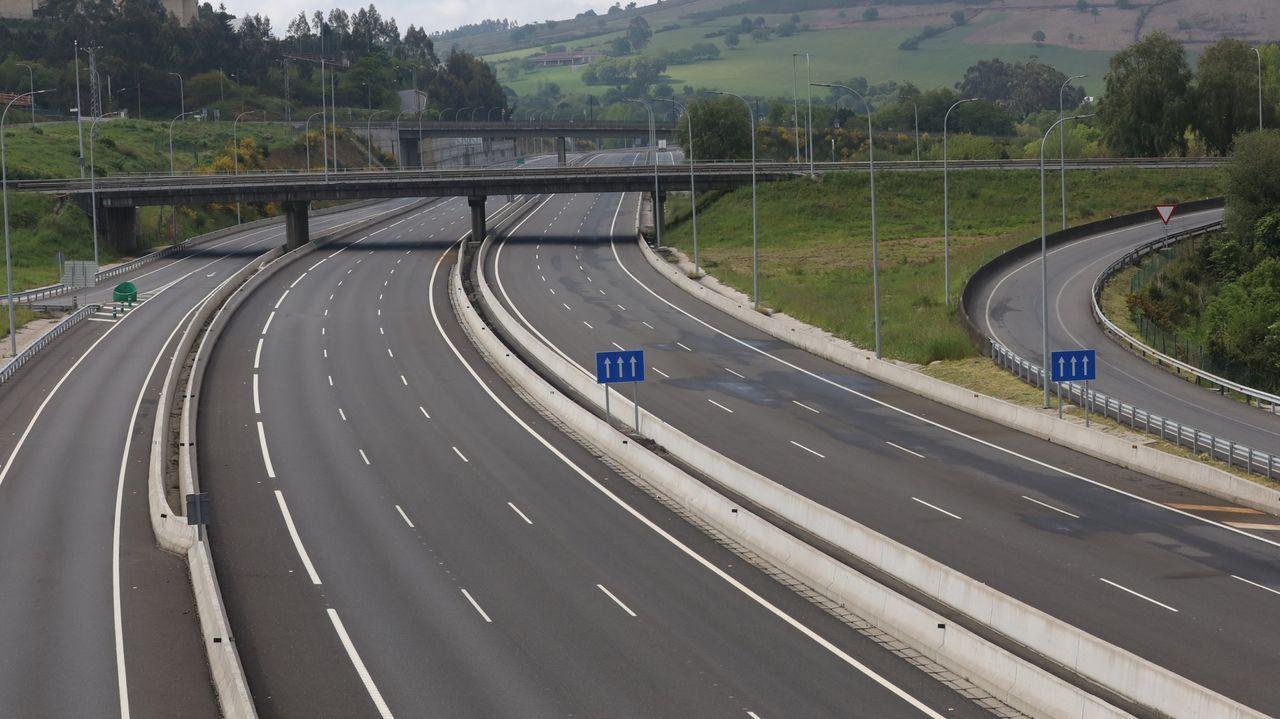 Imagen del túnel de O Sartego, en la AP-9 en Fene