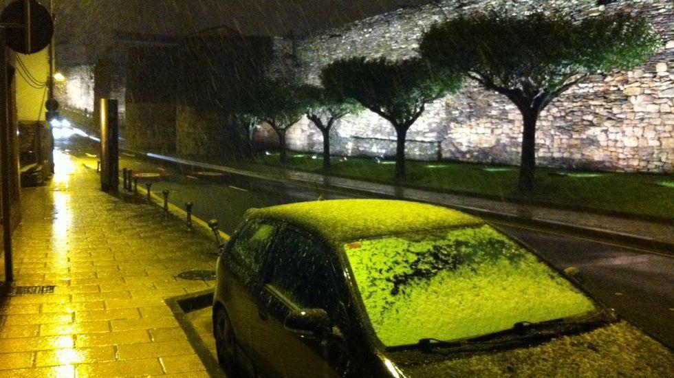 Nieve en Cambás, Aranga.