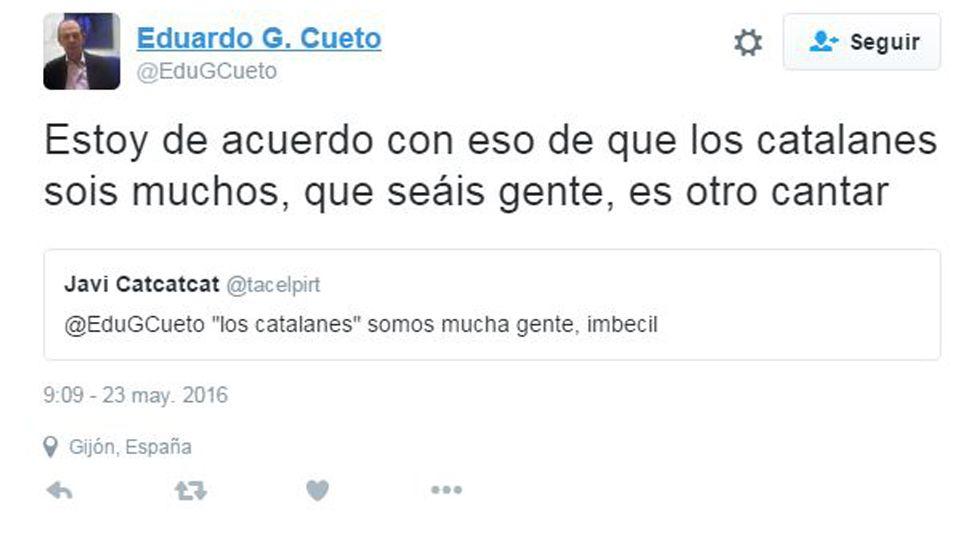 Tweet de Eduardo García Cueto