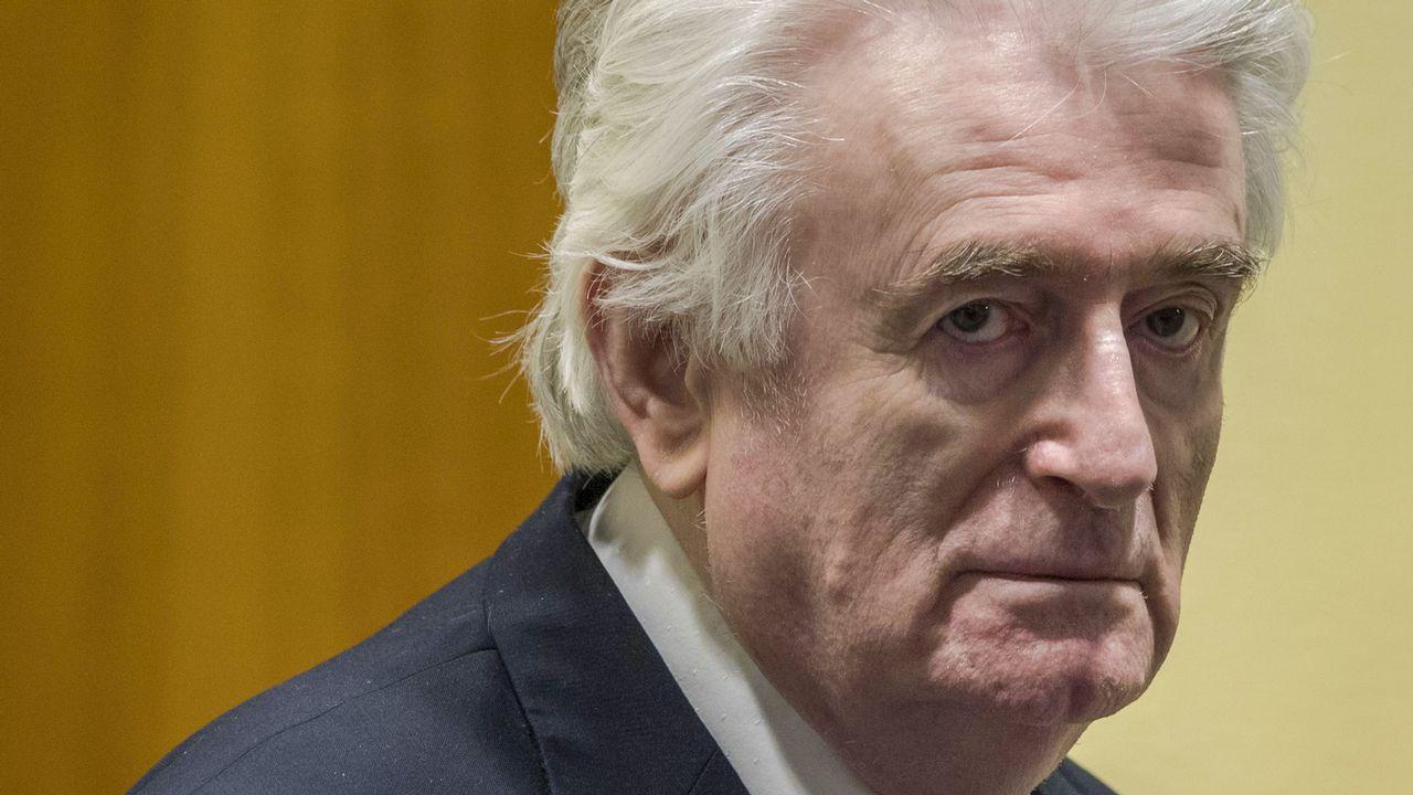 Radovan Karadzic, durante la lectura de la sentencia que lo condena a cadena perpetua