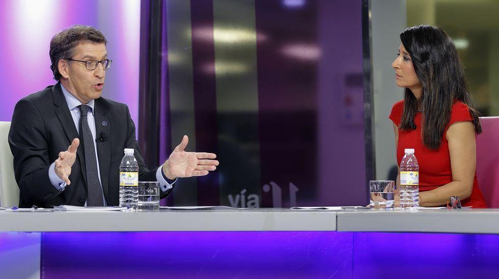 Feijoo: «Non sei quen son os candidatos de Ciudadanos».Cesar Luena, durante la presentación de la campaña del PSOE.