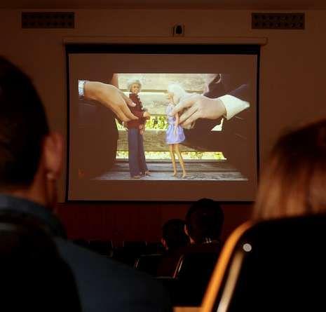 Proyección de webseries, ayer (en la imagen, «Poetarras»).