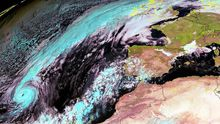 El huracán Ophelia afectó a Galicia en octubre del 2017