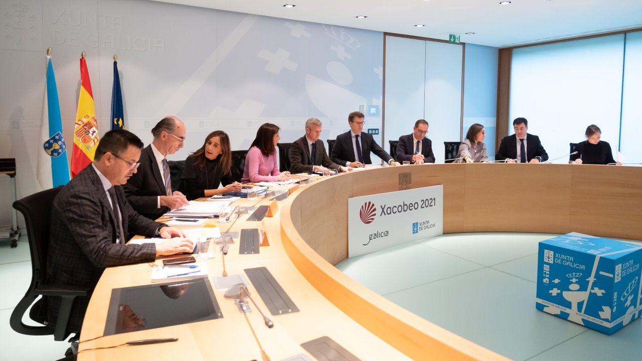 Imagen de una reunión semanal del Consello de la Xunta