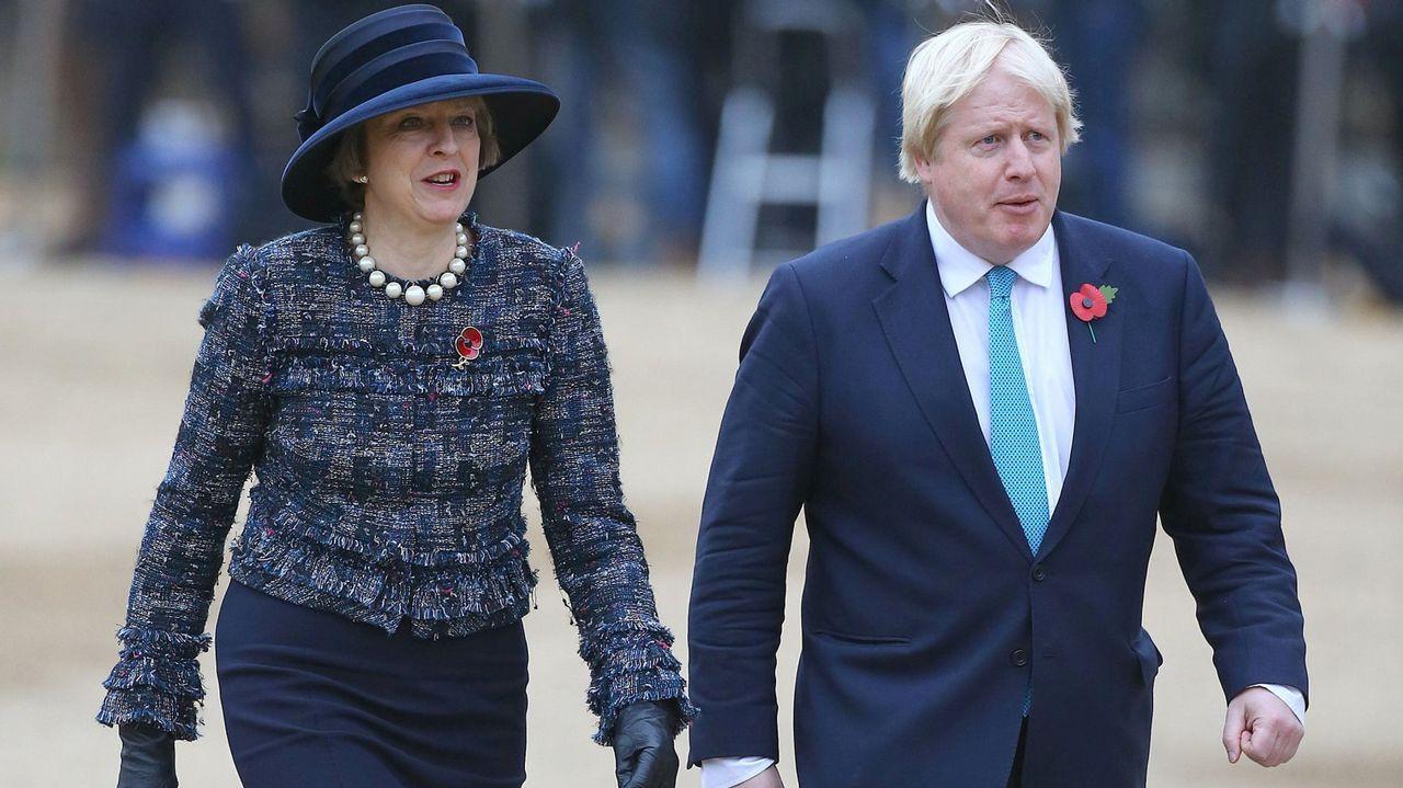 La dimitida Theresa May y el exministro de Exteriores británico Boris Johnson, en una foto de archivo