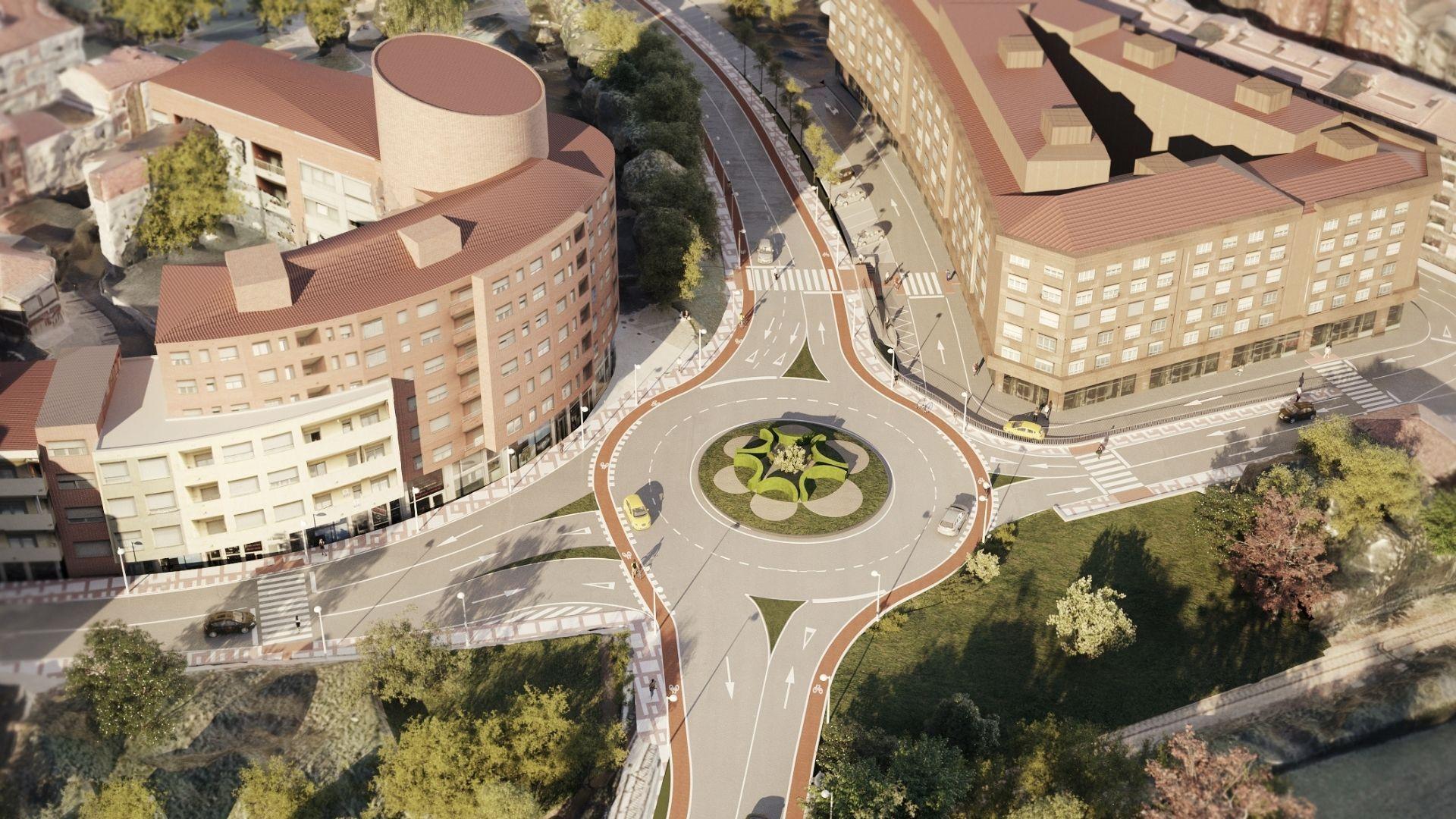 Infografía del proyecto de renovación de la entrada a Pola de Siero