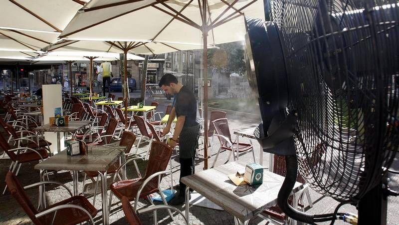 La ola de calor derrite Galicia.Álvaro Pérez fue sexto.