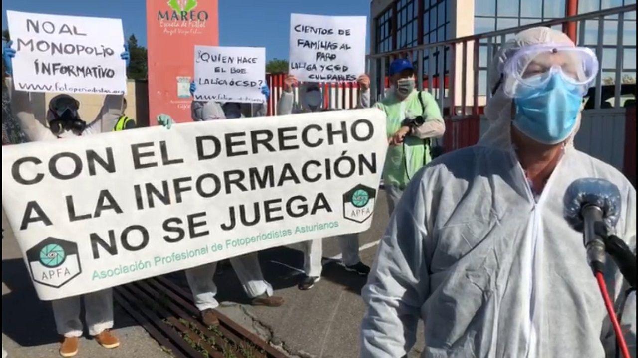 Protesta de los fotoperiodistas asturianos