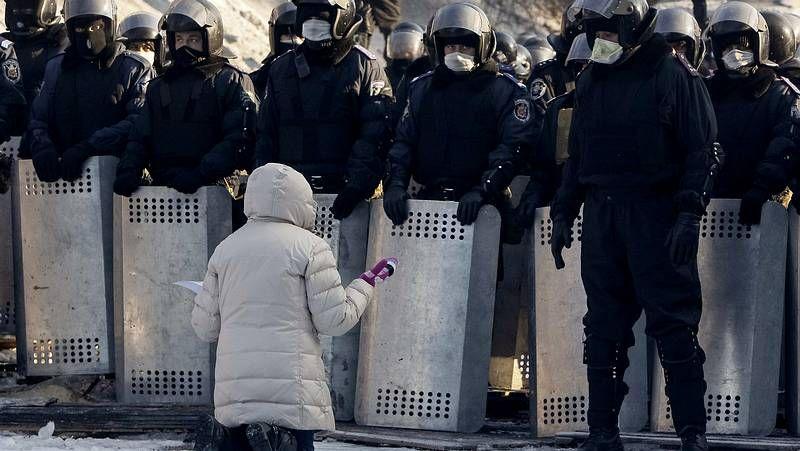 Las protestas siguen dominando el centro de Kiev