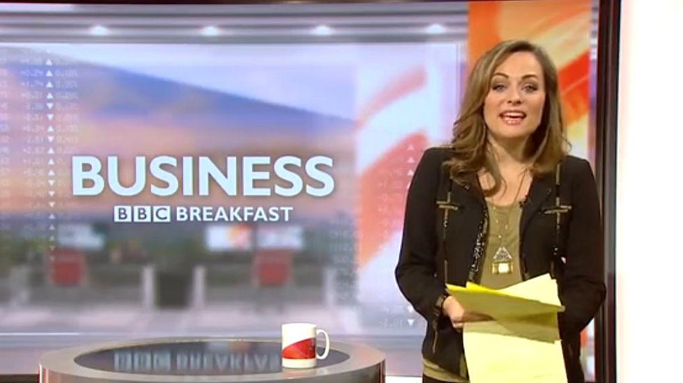 Una presentadora casi rompe aguas en directo