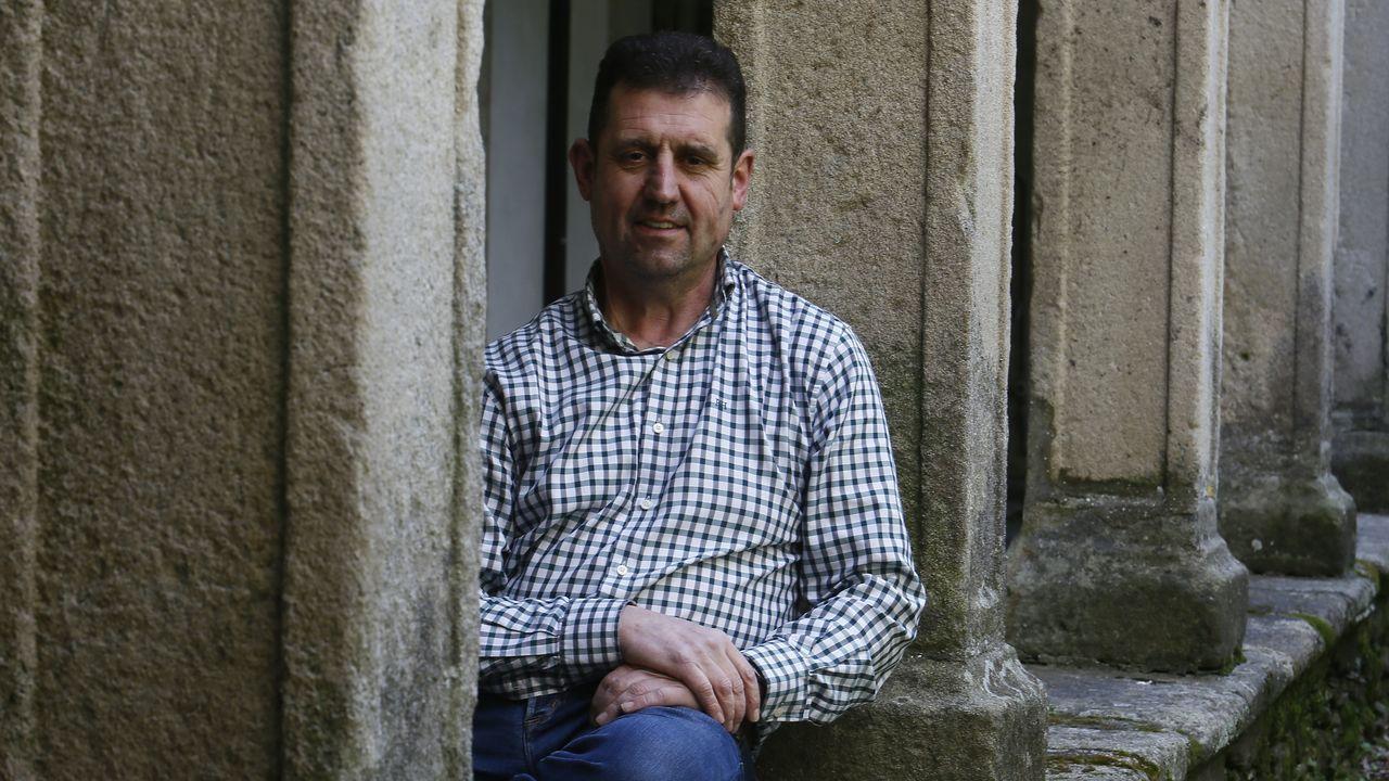 José Veiga, nos claustros de San Francisco