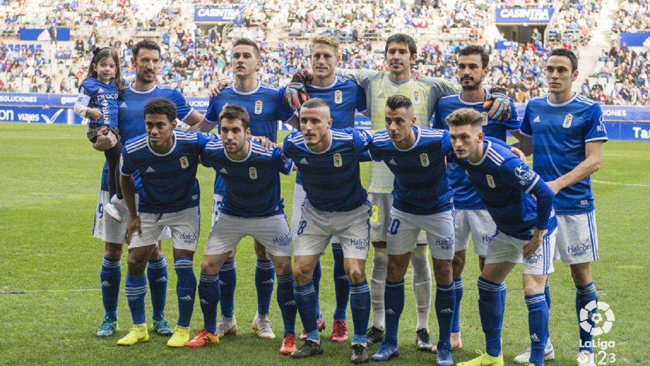 Alineación del Oviedo ante el Málaga