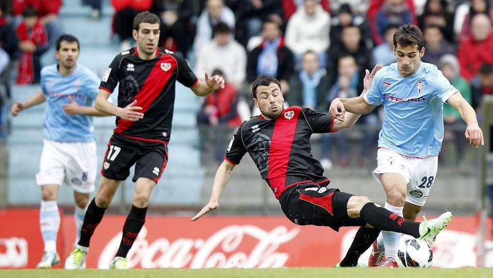 La derrota del Celta ante el Rayo Vallecano, en imágenes