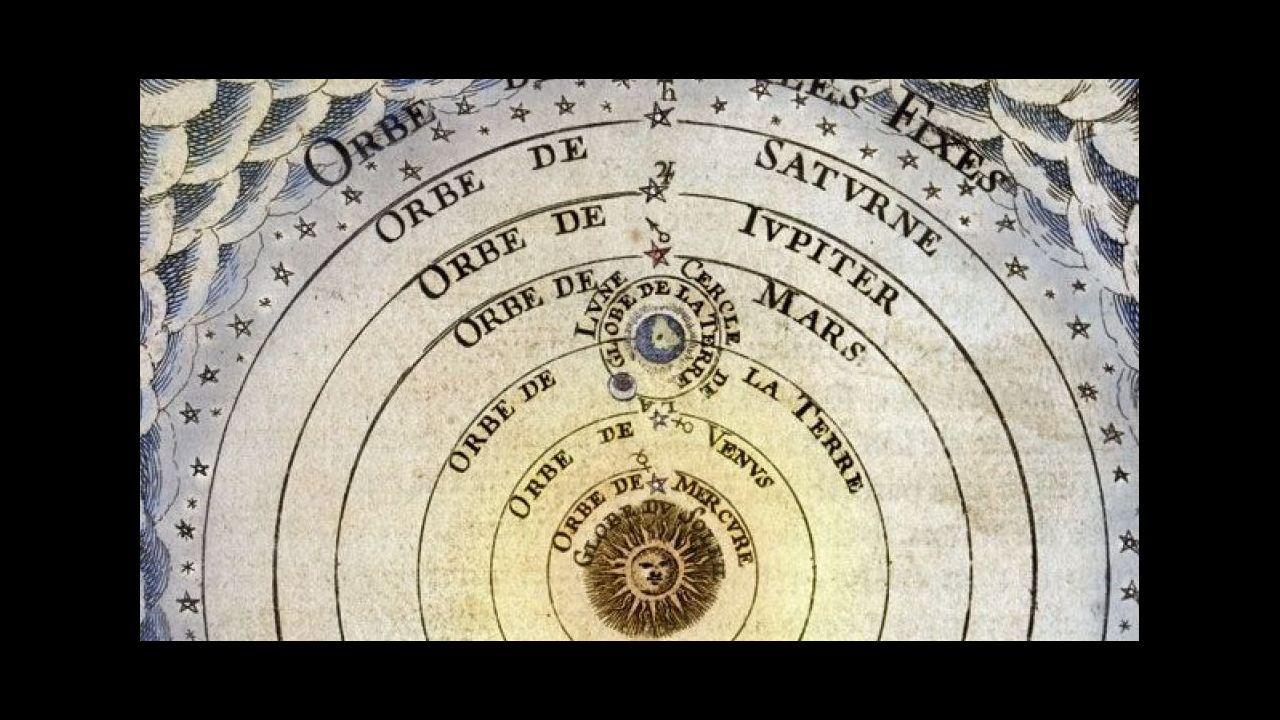 Ilustración del «Sistema del universo según Copérnico» (1719)
