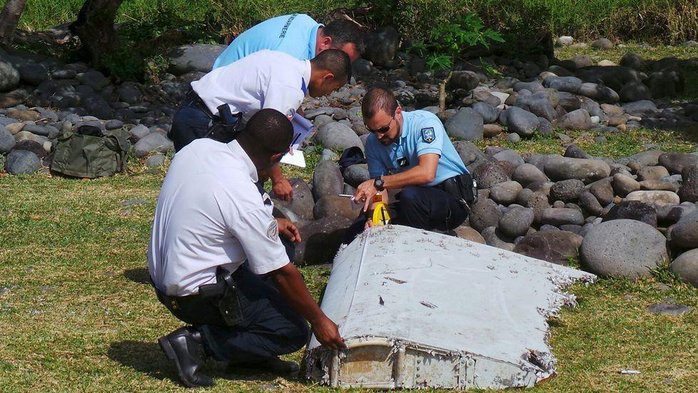 Un barco naufragado localizado en el fondo del océano Índico durante la búsqueda del vuelo de Malaysia Airlines desaparecido MH370.