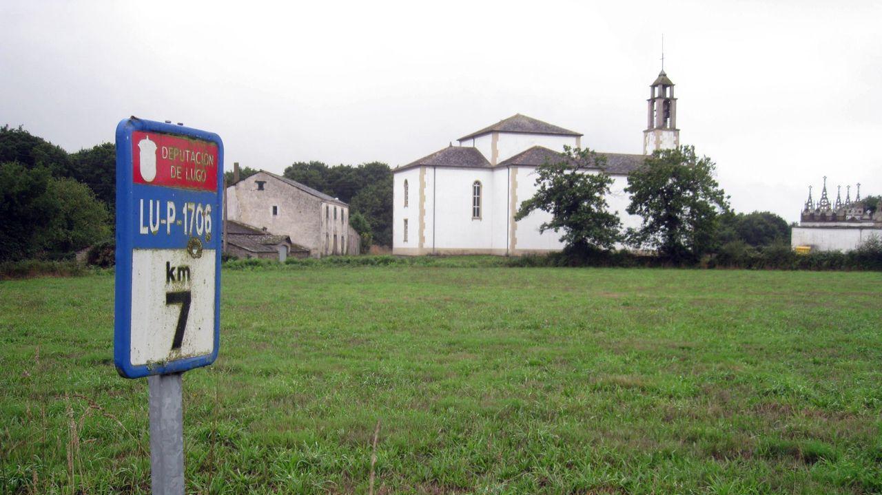 Parroquia de Triabá, en Castro de Rei, donde este verano estaba haciéndose la concentración parcelaria