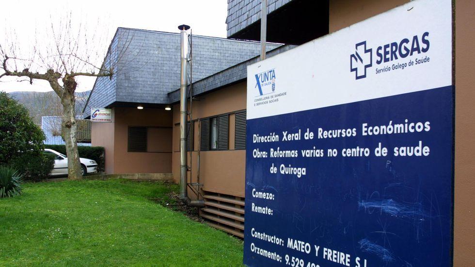 La víctima recibió asistema médica en el centro de salud de Quiroga