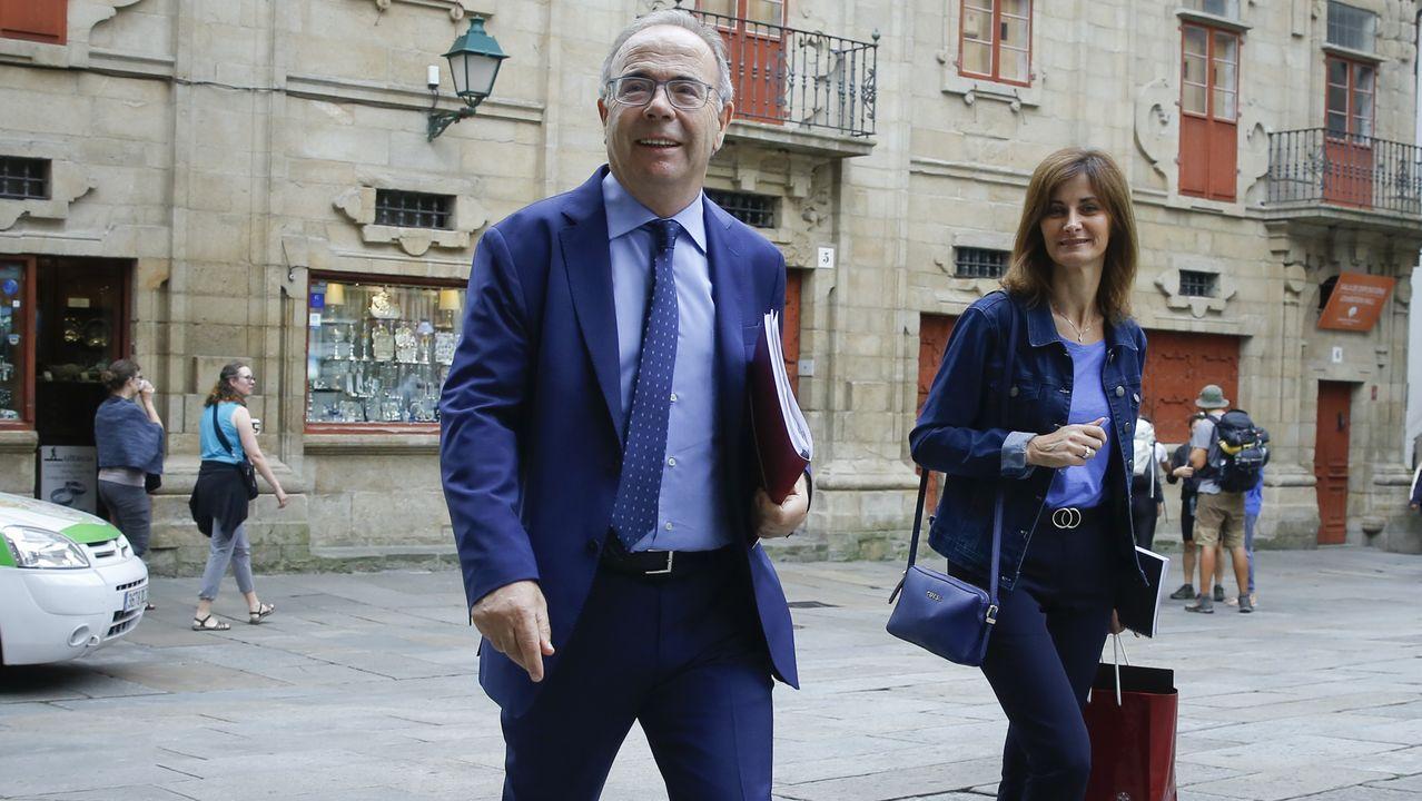 Xosé Manuel Pazos durante la toma de posesión