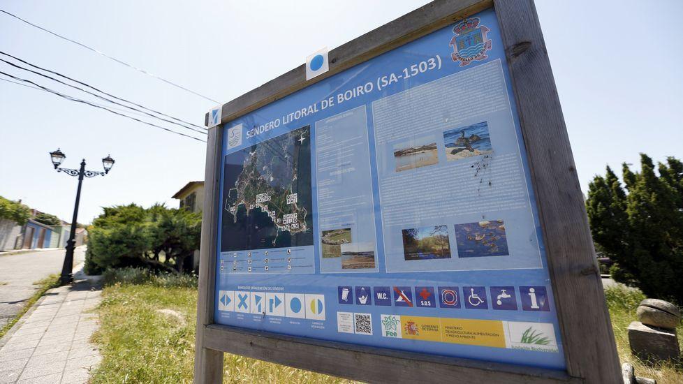 Ruta por el litoral de Boiro, Sendero Azul