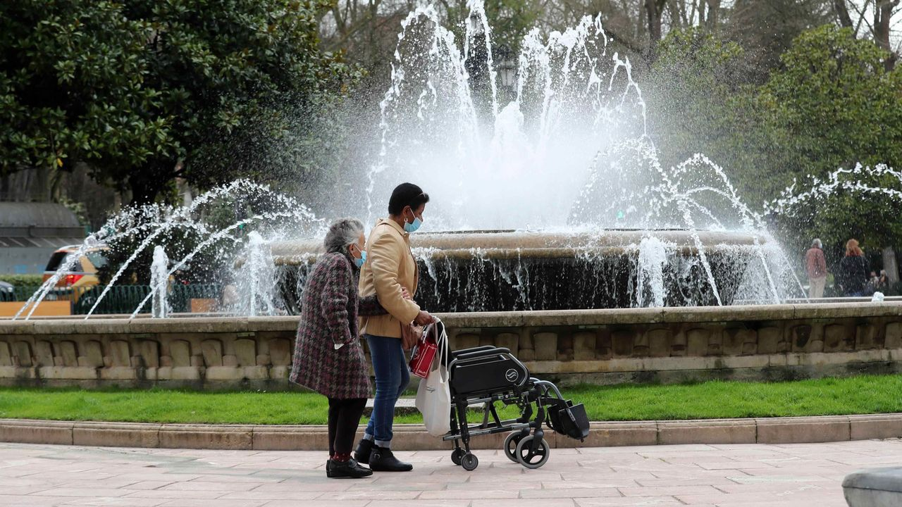 La plaza de la Escandalera en Oviedo