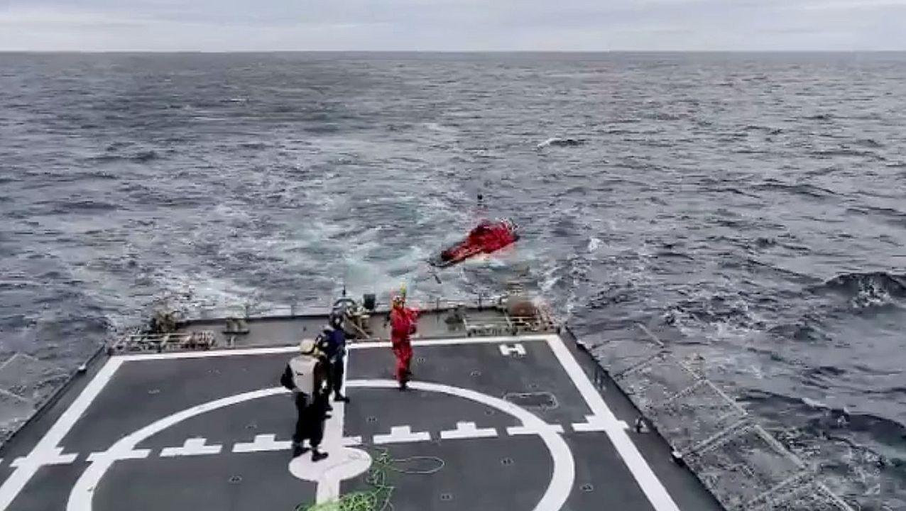 Adiestramiento de las Unidades del Mando de Acción Marítima de Ferrol.El Albacora Seis, en una imagen de archivo del Ministerio de Agricultura, Pesca y Alimentación