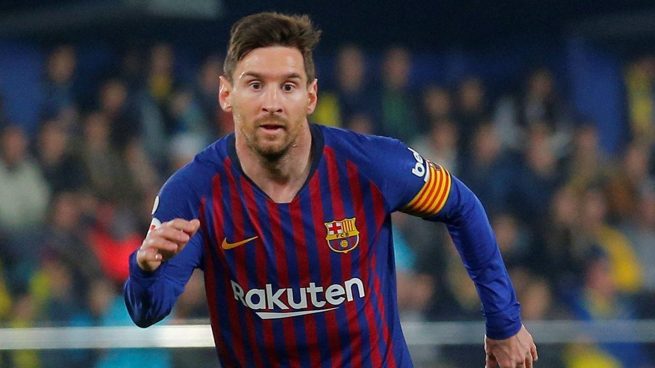 El Barcelona celebra la liga.Leo Messi en una imagen de archivo