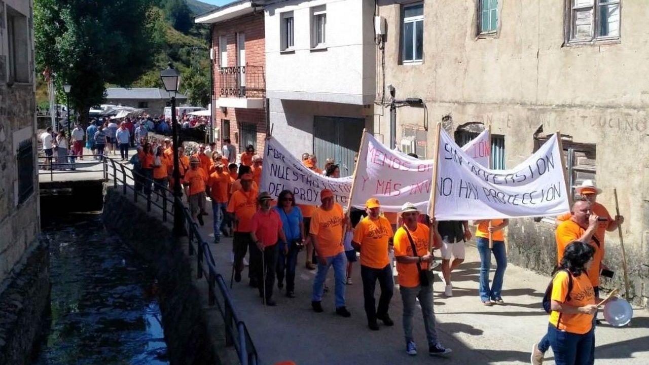 Los vecinos de Porto salieron a protestar en el 2018 para pedir que les arreglaran la carretera