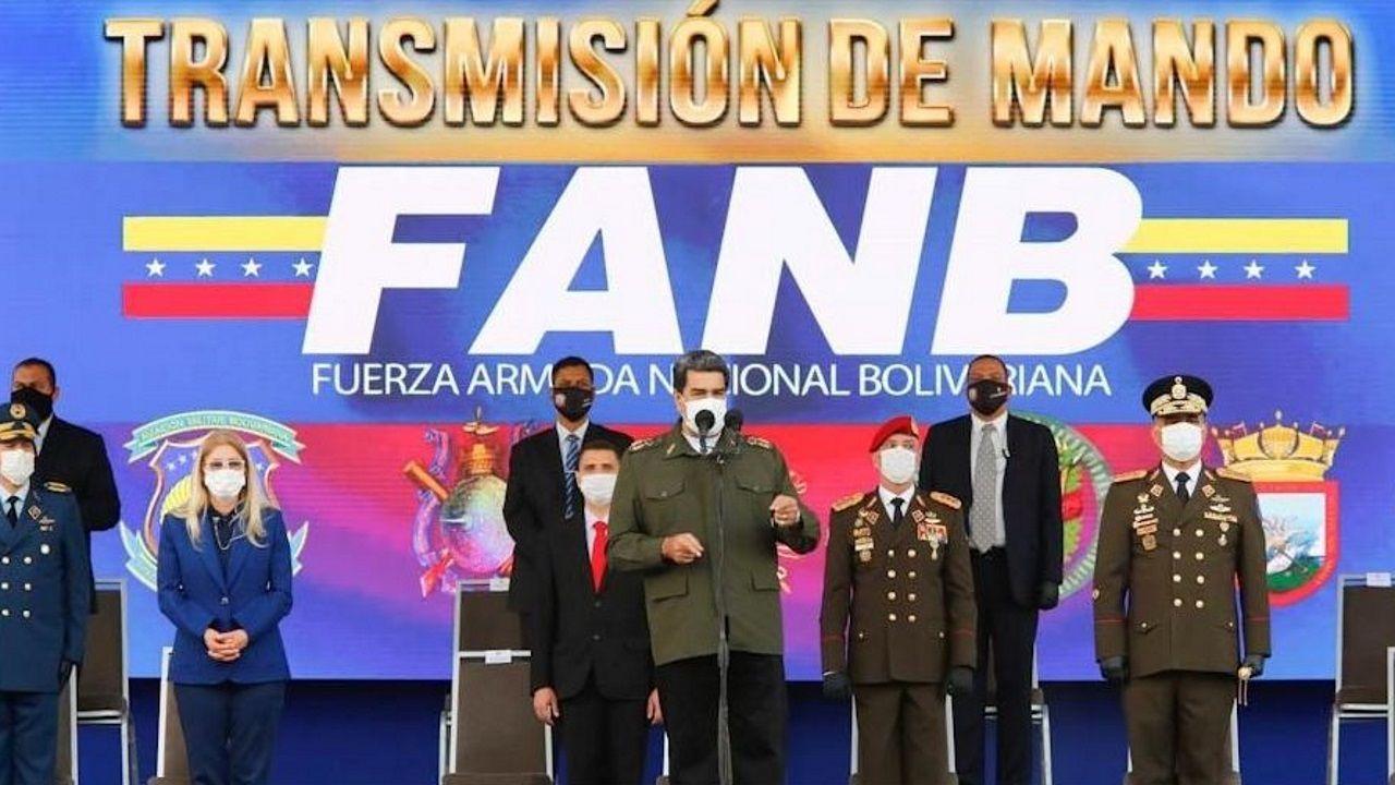 Maduro, el pasado viernes durante un acto militar en Caracas