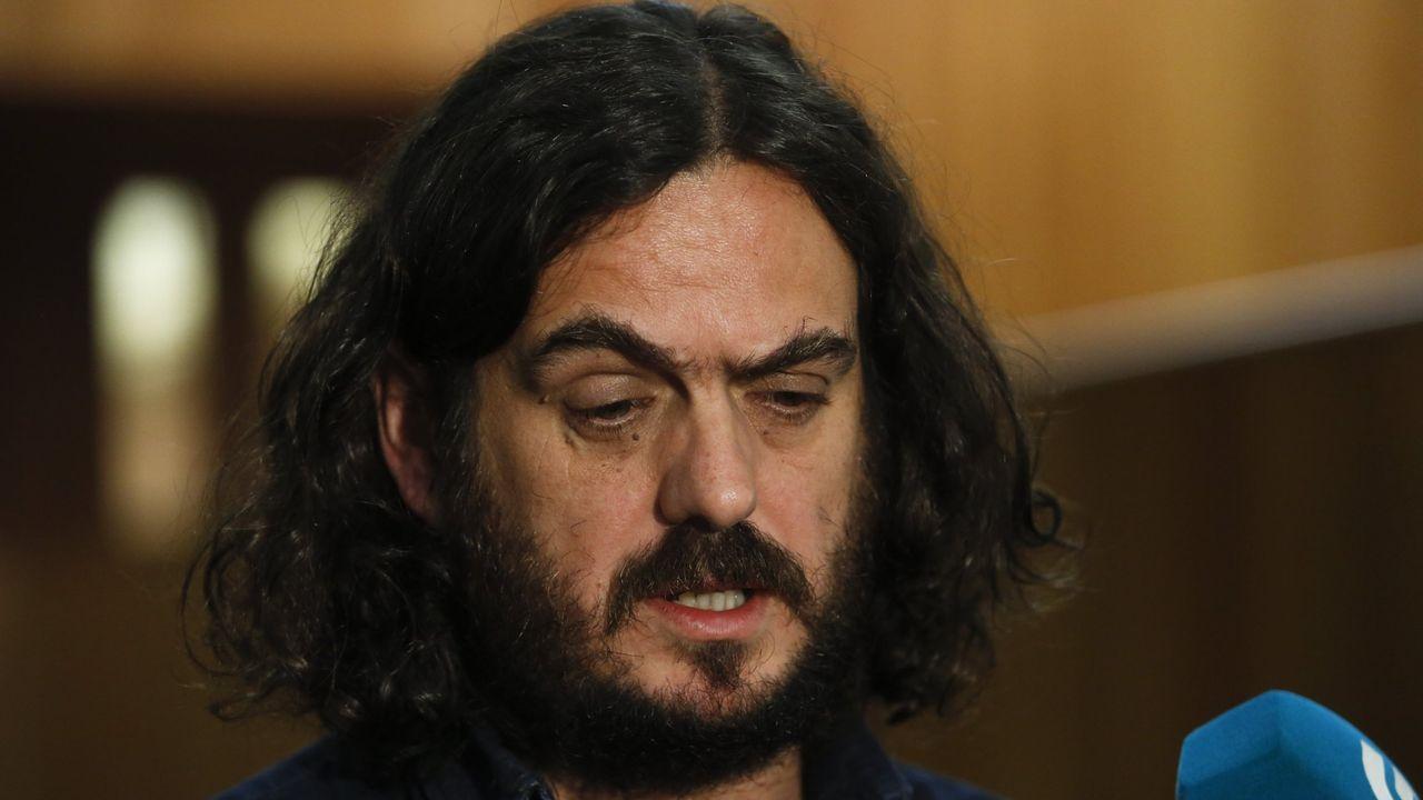Antón Sánchez, en un imagen de archivo cuando era portavoz del Grupo Común da Esquerda