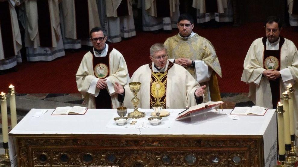 Foto de archivo, fechada en Astorga el 17 de septiembre de 2018, del obispo de Astorga (León), Juan Antonio Menéndez