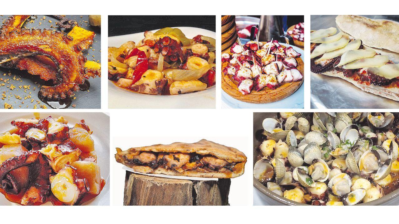 Los chefs de Estrellas Solidarios no Camiño promocionan la gastronomía y el paisaje gallego.Un camarero escancia un culete de sidra