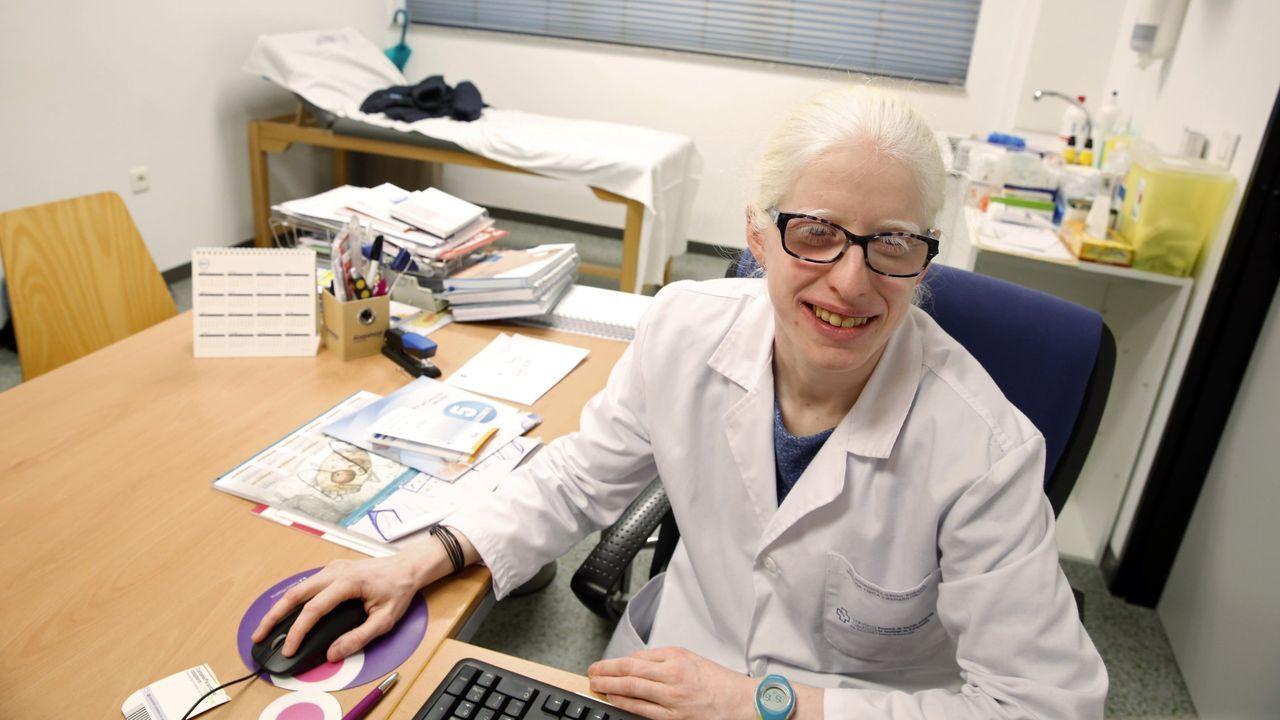 Óscar Páez, en el hospital donde trabaja